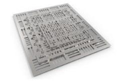 2D-Wasserstrahlschneiden für plattenförmige Stoffe