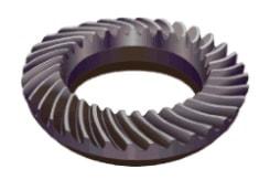 Maschinenrad aus Stahl 3D-Schrägschnitten